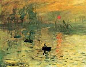 Claude Monet, «Impressione, levar del sole», 1872, olio su tela, 48 x 63 cm, Parigi, Musée Marmottan
